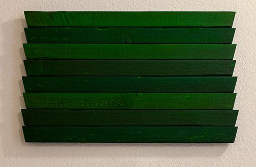 Joseph Egan / Joseph Egan greens  2013 31 x 49.5 x 3 cm oil paints on wood