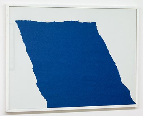 Sol LeWitt / Sol LeWitt Rip Drawing (R 368)  1975 43.5 x 66 cm ripped blue paper