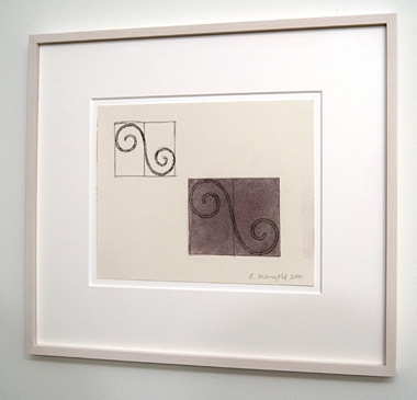 Robert Mangold / Robert Mangold Untitled (Study for Curled Figures)  2001 20.3 x 25.4 cm Pencil, ink and acrylic on paper