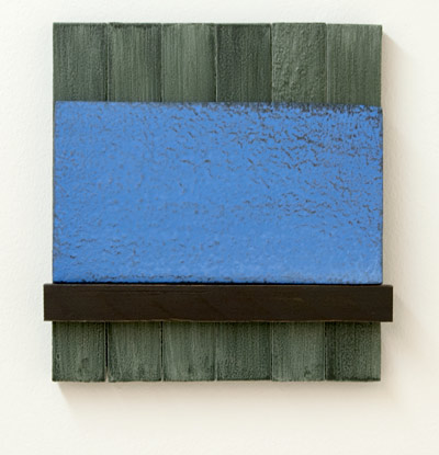 Joseph Egan / Joseph Egan engiadina bassa  2010 29 x 28 x 4.5 cm Various paints and sand on wood