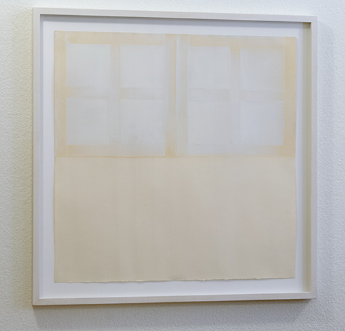 James Bishop / Untitled  ca. 1970 55.5 x 55.5 cm oil on paper