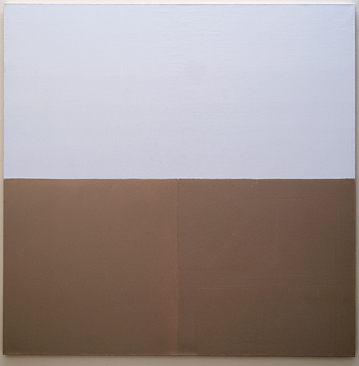 James Bishop / Untitled  1978 193.5 x 193.5 cm oil on canvas