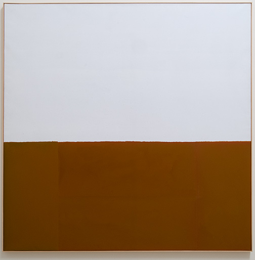 James Bishop / Untitled (Bank)  1974 195 x 195 cm oil on canvas