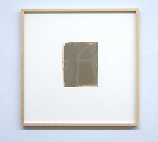 James Bishop / Untitled  16.2 x 12.7 cm oil on paper