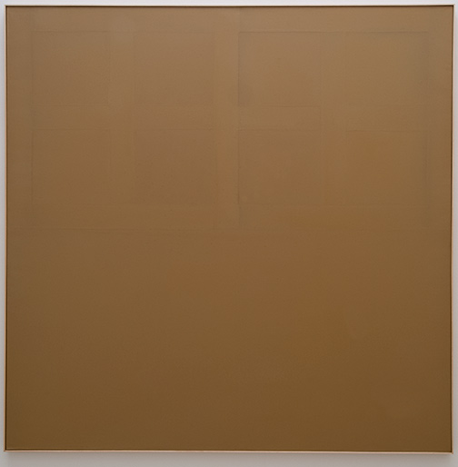 James Bishop / Closed  1974 185 x 185 cm oil on canvas