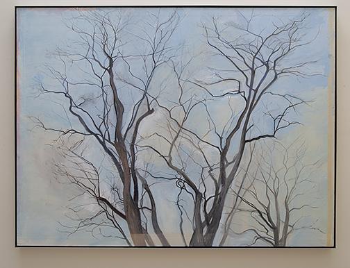 Sylvia Plimack-Mangold / Sylvia Plimack Mangold The Locust Trees  1988  152.4 x 203.2 cm / 60 x 80  inch oil on linen