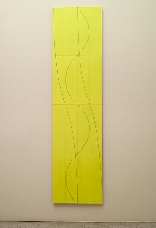 Robert Mangold / Robert Mangold Double Line Column 2  2005  304.8 x 76.2 cm  /  120 x 30  inch acrylic and pencil on canvas