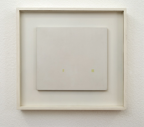 Antonio Calderara / Silenzio  1964 -1965  24 x 27 cm Oel auf Holztafel