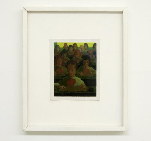 Antonio Calderara / Pittura 28-Scuola  1951-1954 18 x 14 cm Oel auf Holztafel