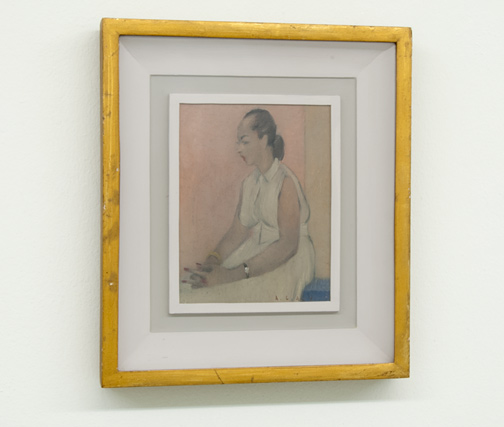 Antonio Calderara / Figura in Bianco  1952  18 x 14 cm Oil on wood