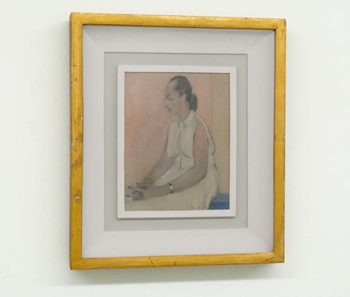 Antonio Calderara / Figura in Bianco  1952  18 x 14 cm Oel auf Holztafel