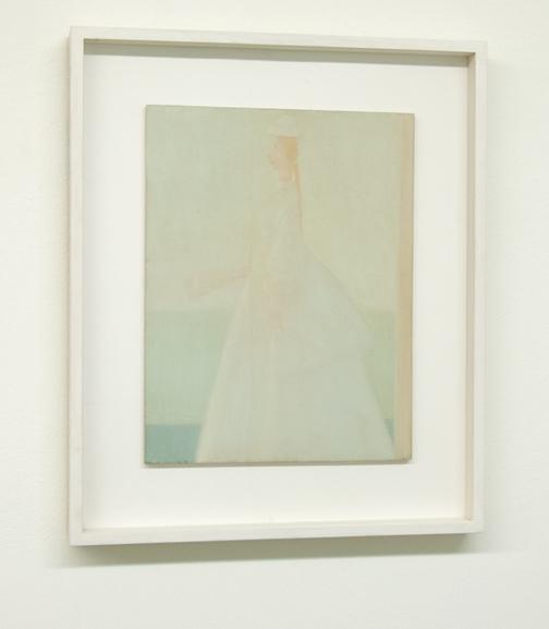 Antonio Calderara / Romantica (La Sposa)  1958  35 x 27 cm Oel auf Holztafel