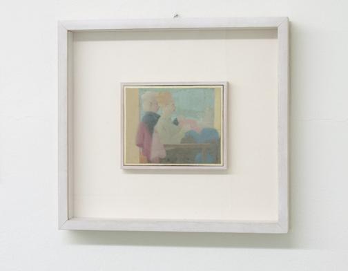 Antonio Calderara / Figure  1952  11.8 x 15 cm Oel auf Holztafel