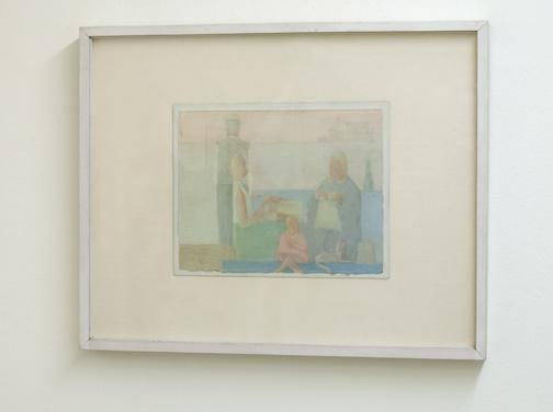 Antonio Calderara / Intimità  1957  23 x 29.5 cm Oel auf Karton auf Holztafel
