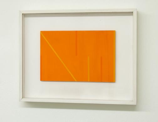 Antonio Calderara / Senza Titolo (A Dadamaino)  1975  18 x 21 cm Oel auf Holztafel