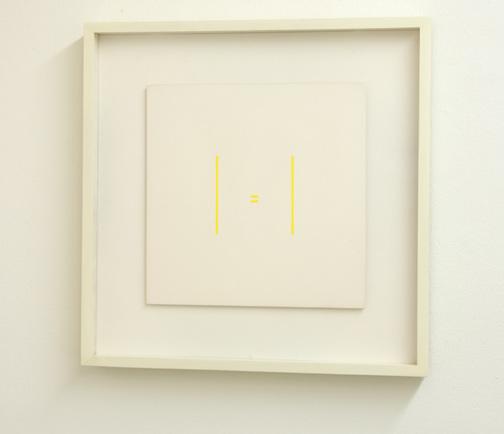 Antonio Calderara / Senza Titolo  1973  27 x 27 cm Oel auf Holztafel