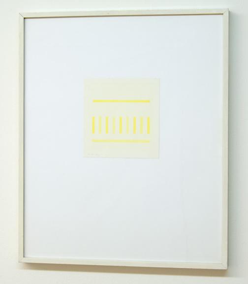 Antonio Calderara / Spazio Luce  1973  13.5 x 13.5 cm Aquarell auf Papier