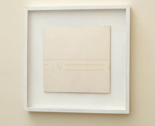 Antonio Calderara / Spazio Luce  1977  27 x 27 cm Oel auf Holztafel
