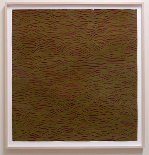 Sol LeWitt / Sol LeWitt Horizontal Bands (More or Less)  2002 154 x 147 cm Gouache auf Papier