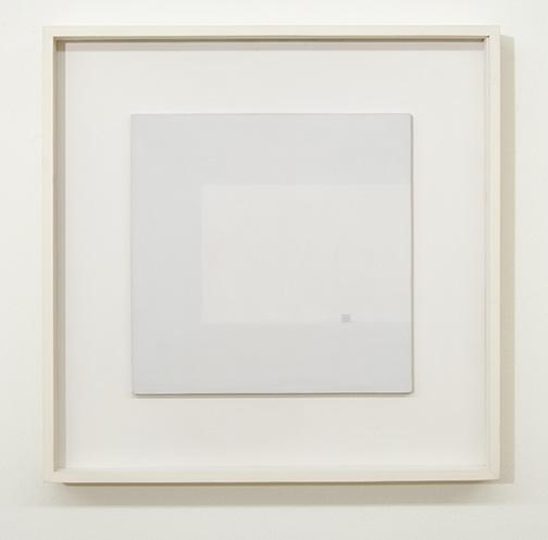 Antonio Calderara / Antonio Calderara Attrazione quadrata grigia in colore luce grigio  1964–1965 27 x 27 cm Oel auf Holztafel