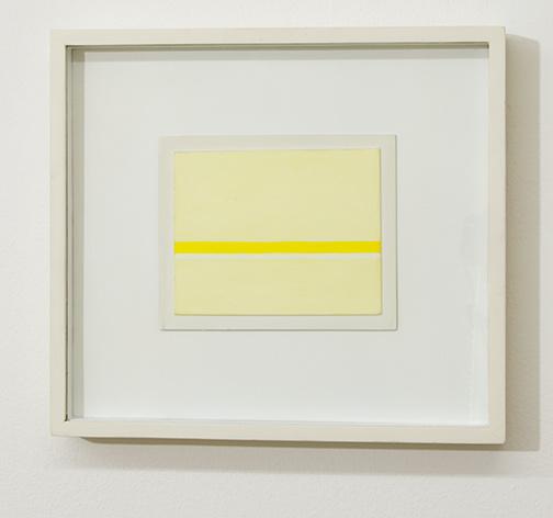 Antonio Calderara / Antonio Calderara Orizzonte bicromo nel giallo  1968 11 x 14 cm Oel auf Holztafel