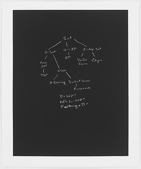 Sol LeWitt / Concinnitas  2014  80.5 x 66.5 cm Aquantita auf Rives Papier Ed. 1/100 Richard Karp (*1935) UC Berkeley;  Turing Medal