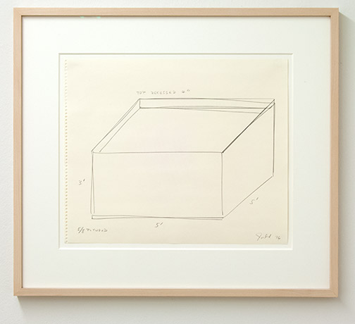 Donald Judd / Untitled  1976  35.7 x 43 cm Pencil on paper