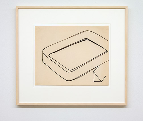 Donald Judd / Untitled  1964  27 x 34 cm marker on paper