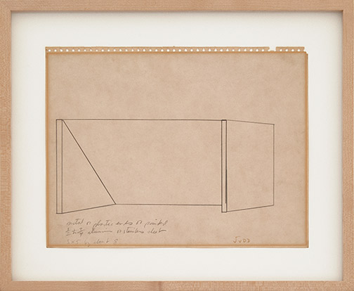 Donald Judd / Untitled  1964 ca. 27 x 35.5 cm pencil on paper