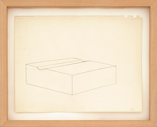 Donald Judd / Untitled  1963  27.5 x 35.5 cm pencil on paper