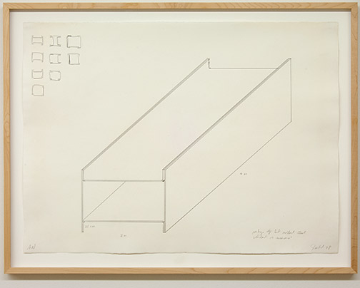 Donald Judd / Untitled  1978  55.8 x 76.2 cm graphite on paper