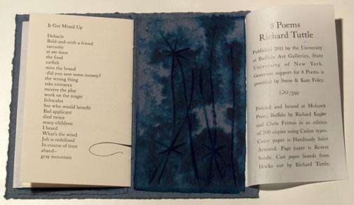 Richard Tuttle 8 Poems