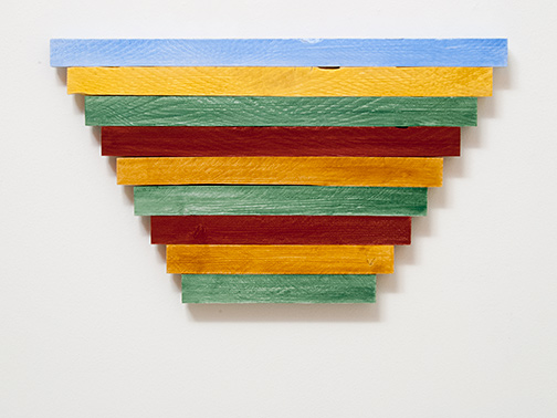 Sol LeWitt / Joseph Egan  paint to color (Nr. 2)  2015  40.5 x 70 x 3 cm Oil on wood