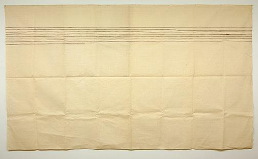 Sol LeWitt / Giorgio Griffa  o.T.  1975  150 x 260 cm Acryl on canvas