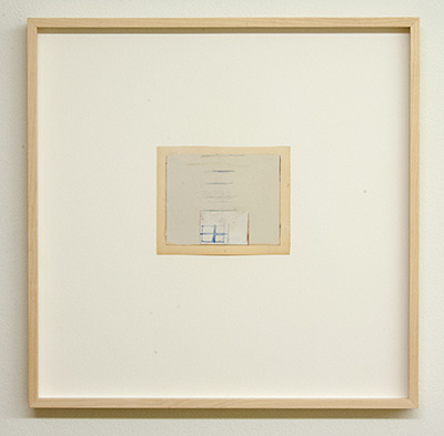 Sol LeWitt / James Bishop  Untitled  2014  11.6 x 14.3 cm Oil, color pencil and collage on paper