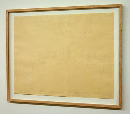 Sol LeWitt / Antonio Calderara (1903-1978) Le amiche  1958  40 x 51 cm Bleistift auf Papier