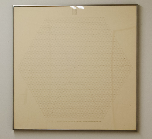 Sol LeWitt / Will Insley (1929-2011) Channel Space, Ratio  1969 - 1973  75.5 x 75.5 cm Pencil on paper