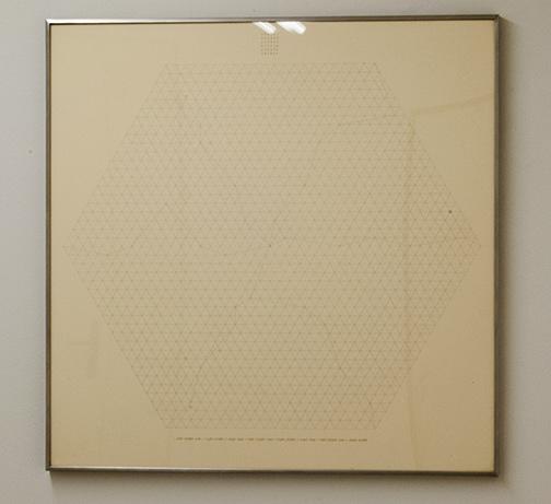Sol LeWitt / Will Insley (1929-2011) Channel Space, Ratio  1969 - 1973  75.5 x 75.5 cm Bleistift auf Papier