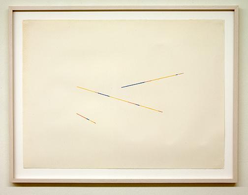 Sol LeWitt / Fred Sandback (1943-2003) Untitled  1986  56.7 x 76.5 cm Bleistift und Farbstift auf Papier