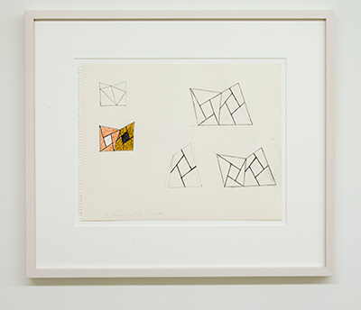 Sol LeWitt / Robert Mangold  Untitled  1988  27 x 35 cm Pencil and color pencil on paper