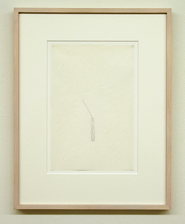 "Sol LeWitt / Richard Tuttle  52 1/2"" Center Point Works V (4)  1976  22.8 x 15.2 cm Pencil on paper"