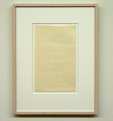 """Sol LeWitt / Richard Tuttle  48 1/2"""" Center Point Works I (10)  1976  20.3 x 12.7 cm  Bleistift auf Papier"""