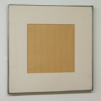 Sol LeWitt / Agnes Martin (1912-2004) Untitled  1965  22.3 x 22.3 cm Tusche auf Papier