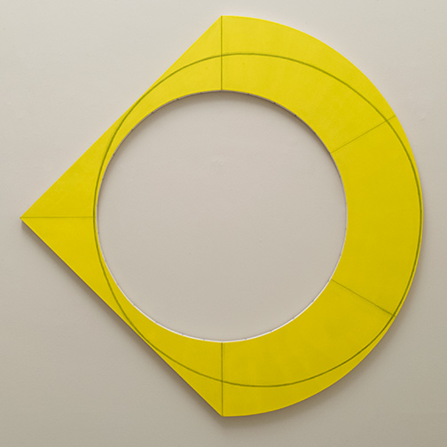 Sol LeWitt / Robert Mangold  Compound Ring III  2012  183 x 183 cm Acryl and black pencil on canvas