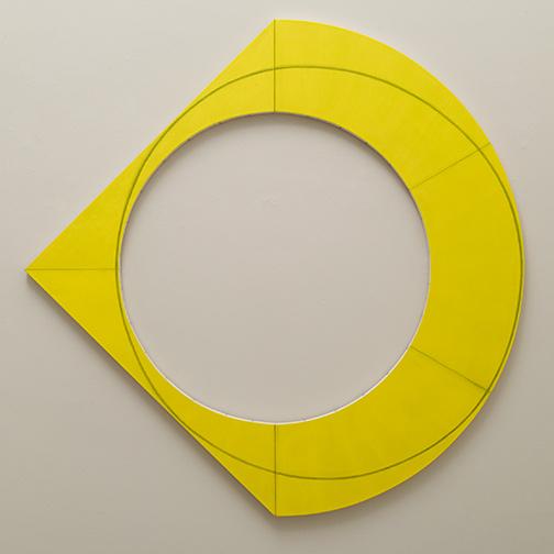 Sol LeWitt / Robert Mangold  Compound Ring III  2012  183 x 183 cm Acryl und schwarzer Farbstift auf Leinwand