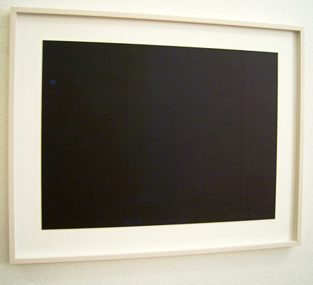 Fred Sandback / Untitled (Cut Drawing) 1994 38.1 x 50.8 cm / 15 x 20 ″ incised illustration board FLS0023