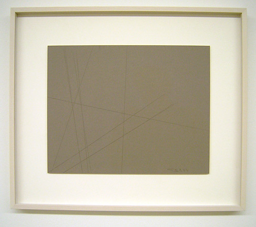 Fred Sandback / Untitled (Cut Drawing) 1993 27.9 x 35.6 cm / 11 x 14