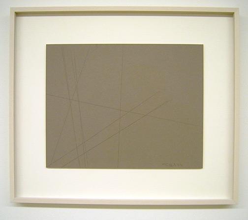Fred Sandback / Untitled (Cut Drawing) 1993 27.9 x 35.6 cm / 11 x 14