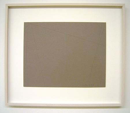 Fred Sandback / Untitled (Cut Drawing) 1995 27.9 x 35.6 cm / 11 x 14