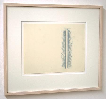 Fred Sandback / Untitled  1990 21.6 x 27.9 cm / 8.5 x 11